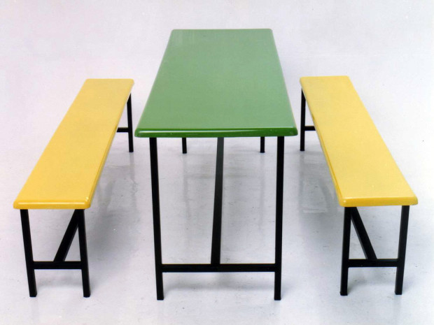 Fibreglass Long Bench Set